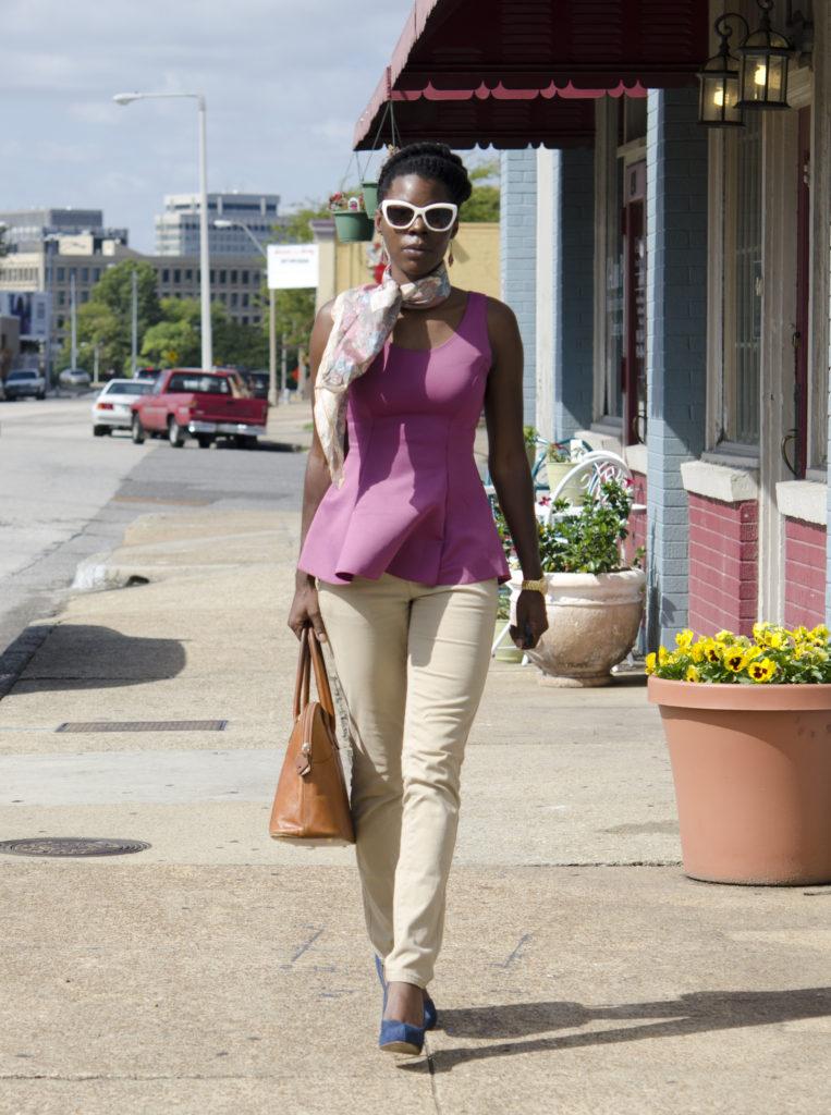 Thrifty Modern Chic: Peplum & Khakis