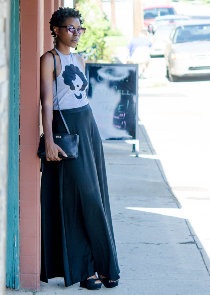 Naturally Chic: Altered Tshirt & Maxi Skirt