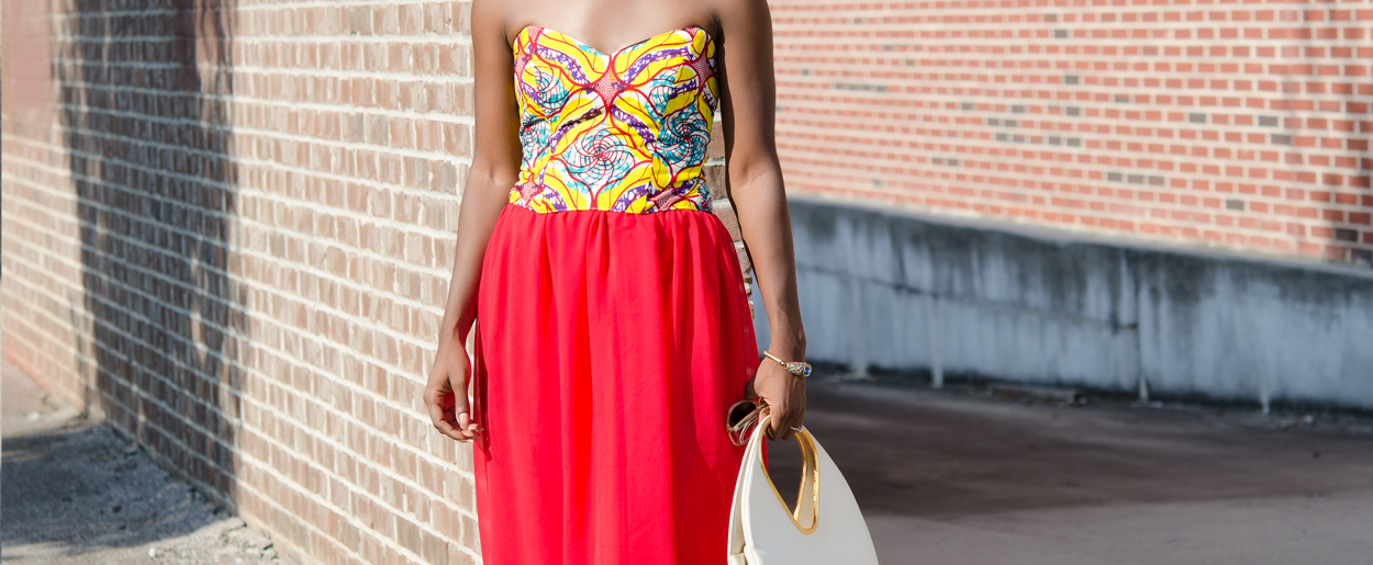 Fashion Challenge: DIY African Print Bustier and Chiffon Skirt