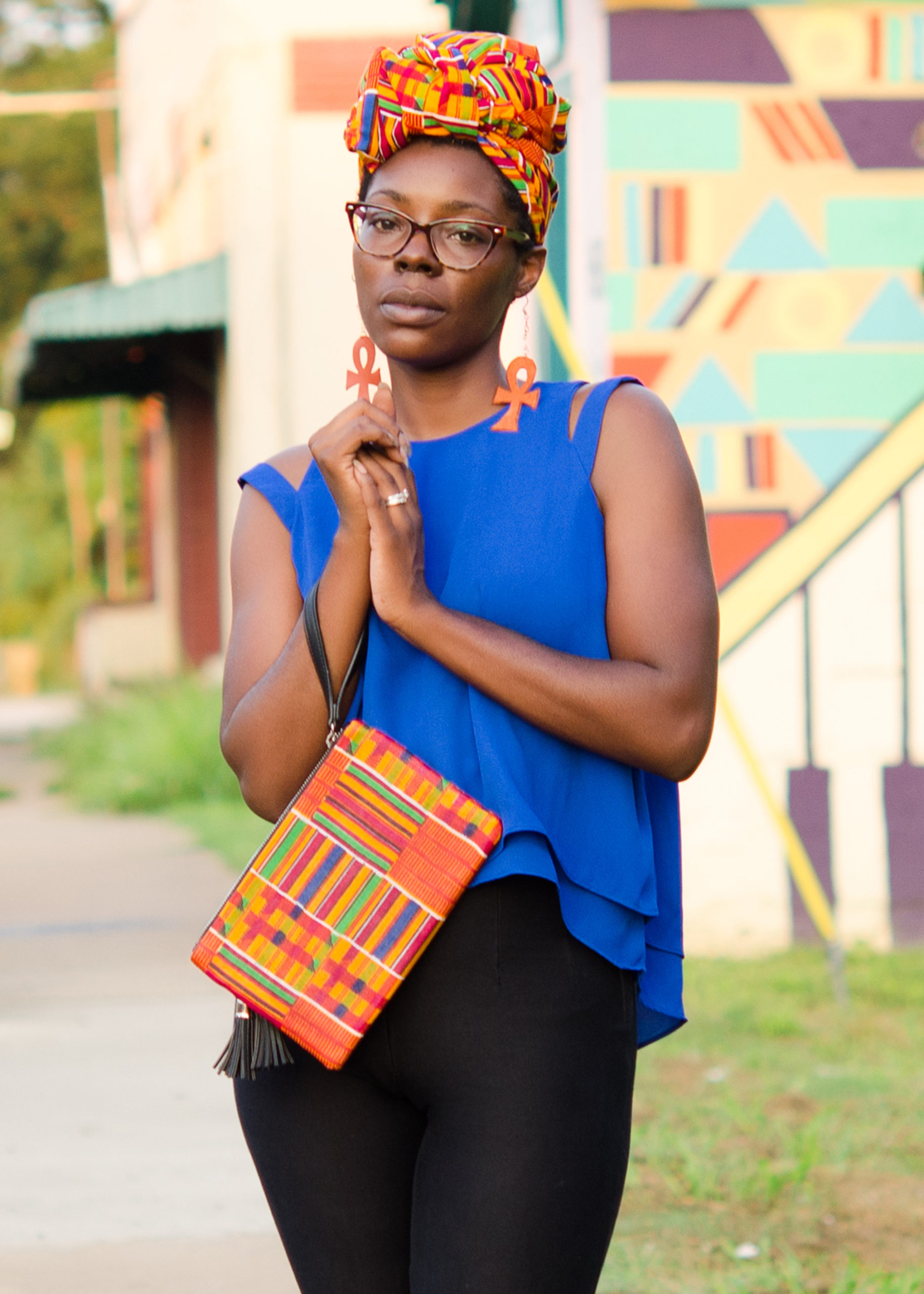 DIY: African Print Fabric Clutch