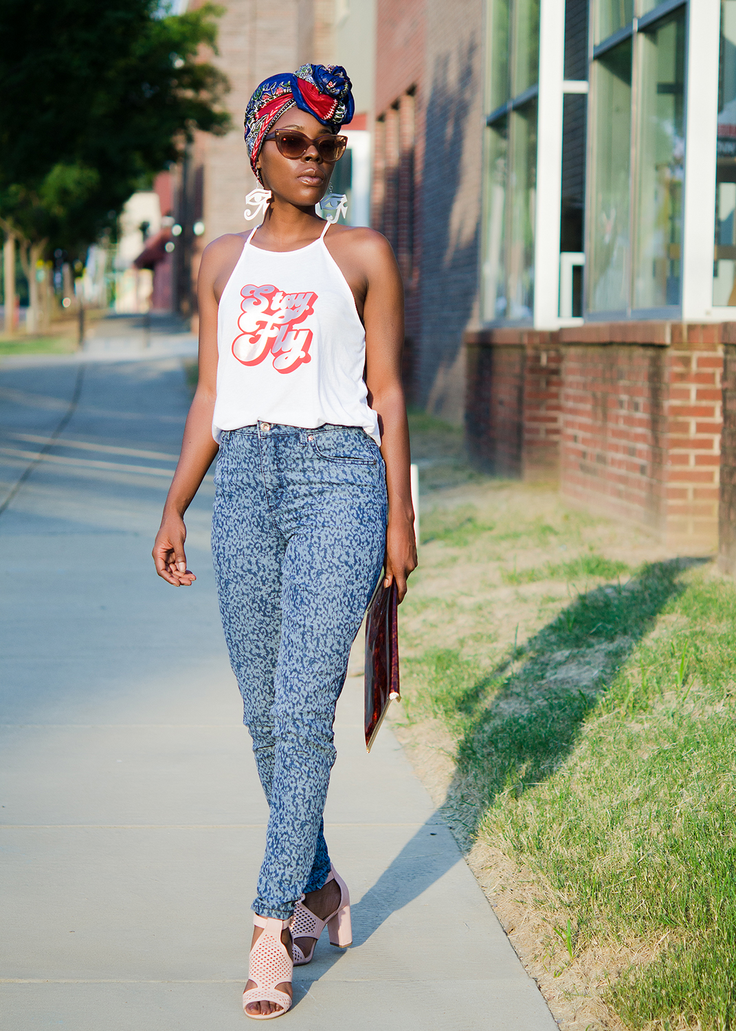 Stay Fly Graphic Halter Top